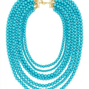 Baublebar Turquoise Beaded Necklace with bag